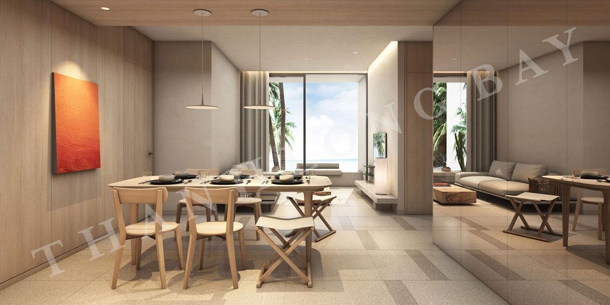 Thiết kế bàn ăn căn hộ 3 PN